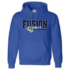 Fondy Fusion Hooded Sweatshirt in blue.