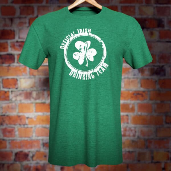 Official Irish Drinking Team T-Shirt (green). Funny novelty tee.